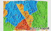Political 3D Map of Habero