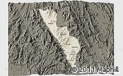Shaded Relief 3D Map of Habero, darken