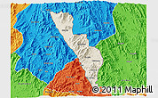 Shaded Relief 3D Map of Habero, political outside