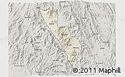 Shaded Relief 3D Map of Habero, semi-desaturated