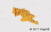 Political 3D Map of Hagaz, single color outside