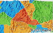 Political 3D Map of Halhal