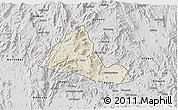 Shaded Relief 3D Map of Halhal, desaturated