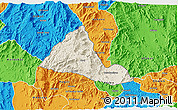 Shaded Relief 3D Map of Halhal, political outside