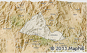 Shaded Relief 3D Map of Halhal, satellite outside