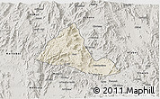 Shaded Relief 3D Map of Halhal, semi-desaturated