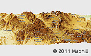 Physical Panoramic Map of Halhal