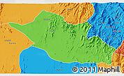 Political 3D Map of Kerkebet