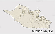 Shaded Relief 3D Map of Kerkebet, cropped outside