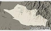 Shaded Relief 3D Map of Kerkebet, darken