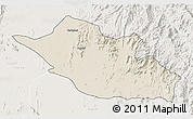 Shaded Relief 3D Map of Kerkebet, lighten
