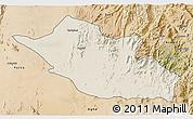 Shaded Relief 3D Map of Kerkebet, satellite outside