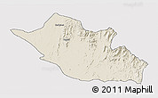 Shaded Relief 3D Map of Kerkebet, single color outside