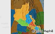 Political Map of Anseba, darken