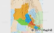 Political Map of Anseba, lighten