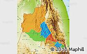 Political Map of Anseba, physical outside
