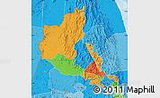 Political Map of Anseba, political shades outside