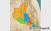 Political Map of Anseba, satellite outside