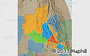 Political Map of Anseba, semi-desaturated