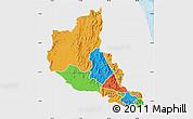 Political Map of Anseba, single color outside