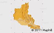 Political Shades Map of Anseba, cropped outside