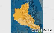 Political Shades Map of Anseba, darken