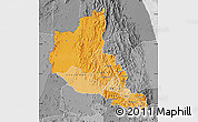 Political Shades Map of Anseba, desaturated