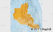 Political Shades Map of Anseba, lighten