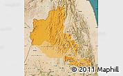 Political Shades Map of Anseba, satellite outside