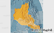 Political Shades Map of Anseba, semi-desaturated