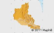 Political Shades Map of Anseba, single color outside
