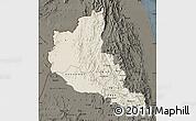 Shaded Relief Map of Anseba, darken