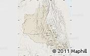 Shaded Relief Map of Anseba, lighten