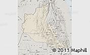 Shaded Relief Map of Anseba, semi-desaturated