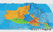 Political Panoramic Map of Anseba, political shades outside