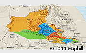 Political Panoramic Map of Anseba, shaded relief outside