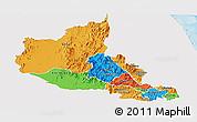 Political Panoramic Map of Anseba, single color outside