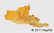 Political Shades Panoramic Map of Anseba, cropped outside