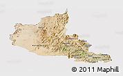 Satellite Panoramic Map of Anseba, cropped outside