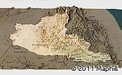 Satellite Panoramic Map of Anseba, darken
