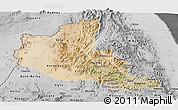 Satellite Panoramic Map of Anseba, desaturated