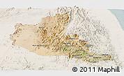 Satellite Panoramic Map of Anseba, lighten