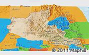 Satellite Panoramic Map of Anseba, political outside