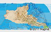 Satellite Panoramic Map of Anseba, political shades outside