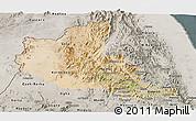 Satellite Panoramic Map of Anseba, semi-desaturated
