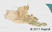 Satellite Panoramic Map of Anseba, single color outside