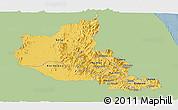 Savanna Style Panoramic Map of Anseba, single color outside
