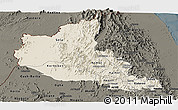 Shaded Relief Panoramic Map of Anseba, darken