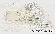Shaded Relief Panoramic Map of Anseba, lighten