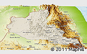 Shaded Relief Panoramic Map of Anseba, physical outside